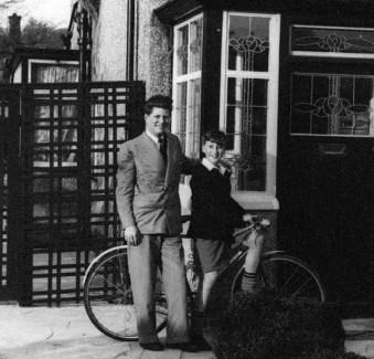 John Lennon, 8, with his cousin Stanley Parkes, 15