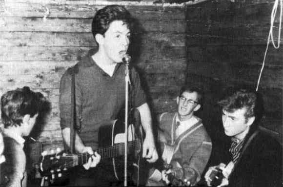 The Quarrymen on the opening night of the Casbah Coffee Club, Liverpool, 29 August 1959