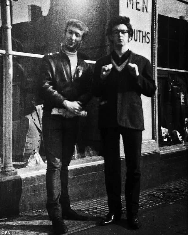 John Lennon and Paul McCartney, circa 1960
