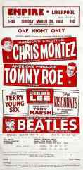 Poster for The Beatles at the Empire Theatre, Liverpool, 24 March 1963