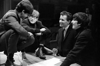 Paul McCartney, John Lennon, producer Bernard Andrews and George Harrison, Saturday Club, BBC, 17 December 1963