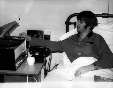 Ringo Starr in University College Hospital, London, December 1964