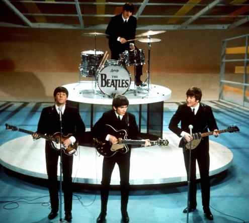 Image result for the beatles first appearance on the ed sullivan show