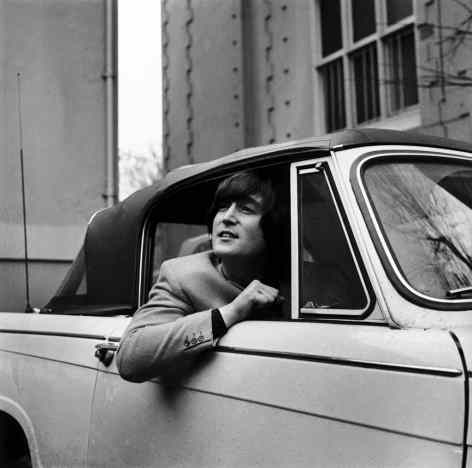 John Lennon on the day he passed his driving test, 15 February 1965
