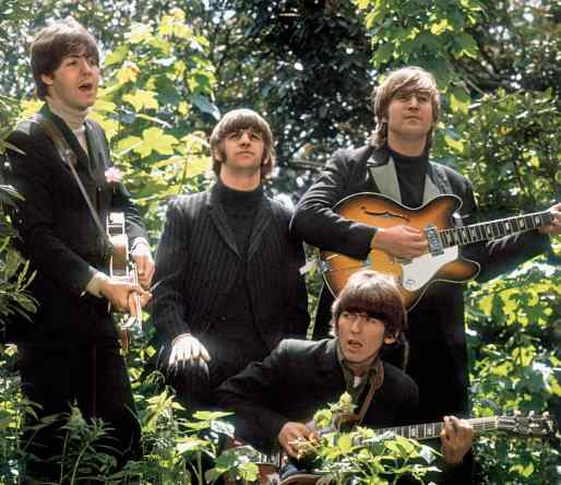 The Beatles filming a promotional clip for Paperback Writer/Rain, 20 May 1966