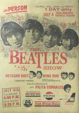 Poster for The Beatles in Manila, the Philippines, 4 July 1966