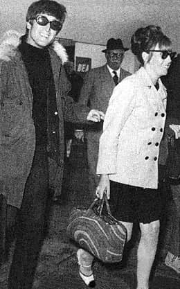 John and Cynthia Lennon, 6 November 1966