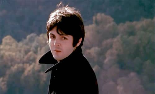 Paul McCartney in Magical Mystery Tour's sequence for The Fool On The Hill, 1967