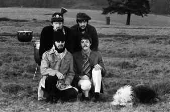The Beatles filming the Strawberry Fields Forever promo film, January 1967