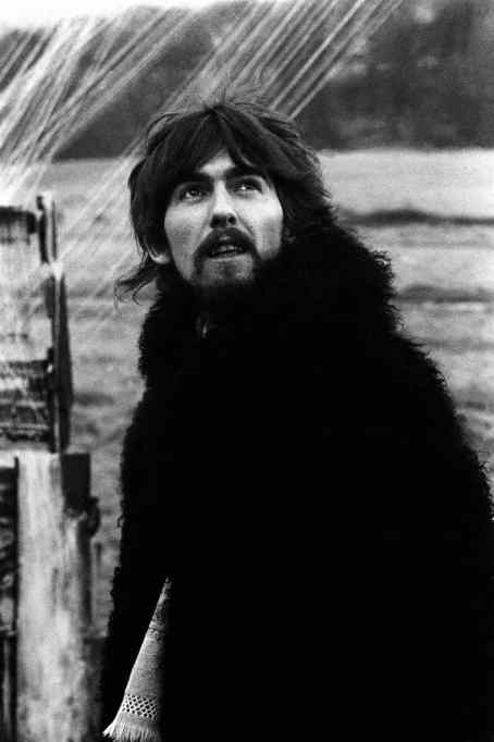 George Harrison filming the Strawberry Fields Forever promo film, January 1967