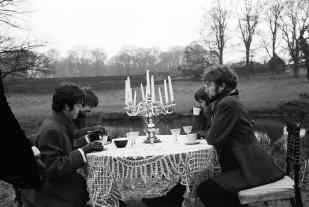 The Beatles filming the Penny Lane promo, 7 February 1967