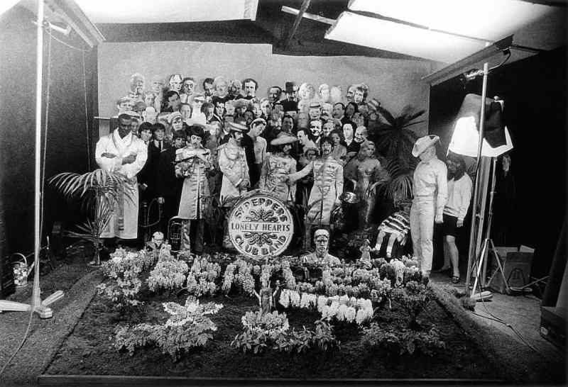The Beatles during the Sgt Pepper cover shoot, 30 March 1967