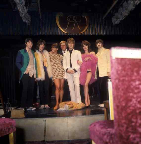 The Beatles filming Magical Mystery Tour at the Raymond Revuebar, 18 September 1967