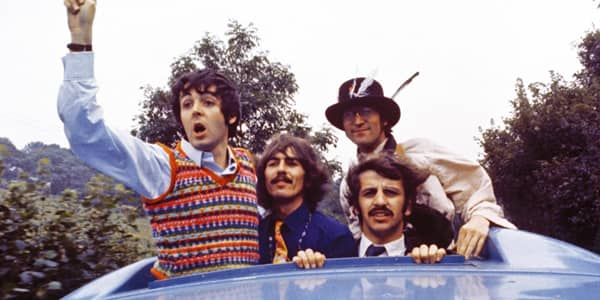 The Beatles in Magical Mystery Tour, 1967