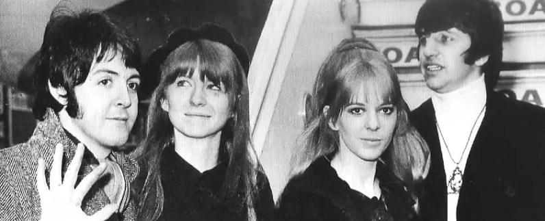 Paul McCartney, Jane Asher, Maureen Starkey and Ringo Starr, 1968