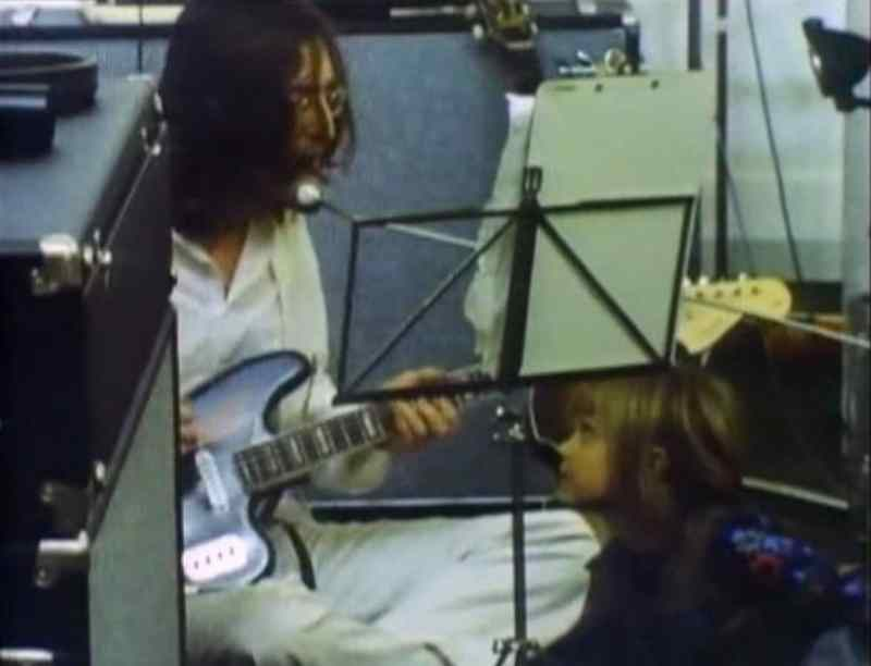 John Lennon recording The Beatles' song Dig It, 26 January 1969