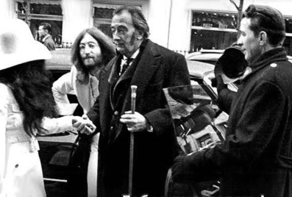John Lennon and Yoko Ono with Salvador Dali, 24 March 1969