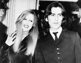George and Pattie Harrison outside Esher and Walton Magistrates' Court, 31 March 1969