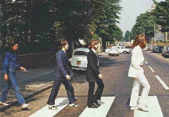 The Beatles crossing Abbey Road, 8 August 1969