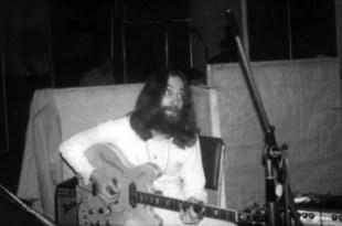 John Lennon recording Abbey Road, 1969