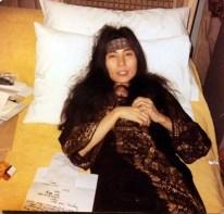 Yoko Ono in Studio Two, EMI Studios, Abbey Road, 1969