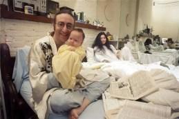 John Lennon, Sean Lennon and Yoko Ono, October 1975