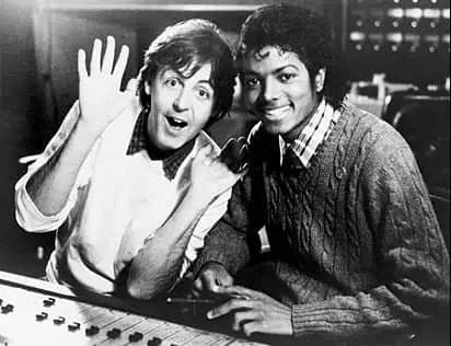 Paul McCartney and Michael Jackson, 1983