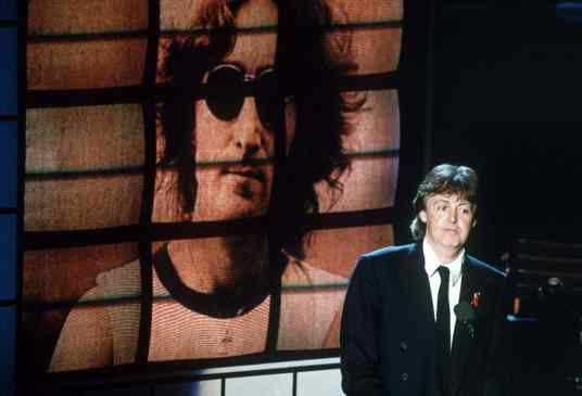 Paul McCartney's speech at John Lennon's induction to the Rock and Roll Hall of Fame, 19 January 1994