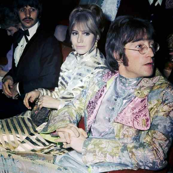John and Cynthia Lennon and Ringo Starr at the How I Won The War premiere, 18 October 1967