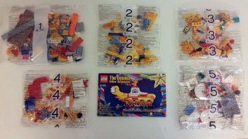 The Beatles' LEGO Yellow Submarine pieces