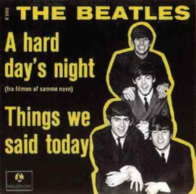 A Hard Day's Night single artwork - Denmark