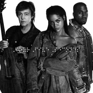 FourFiveSeconds cover artwork (Paul McCartney, Rihanna, Kanye West)