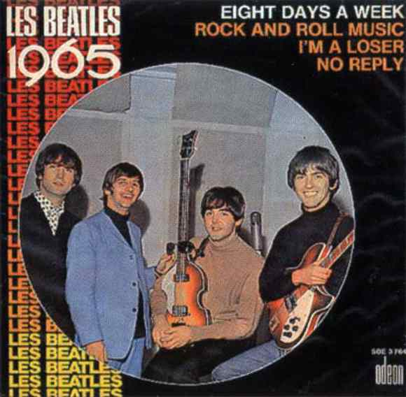 Les Beatles 1965 EP artwork - France