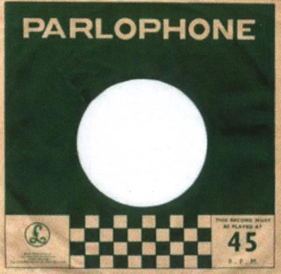 Parlophone single sleeve, 1964-65 - India