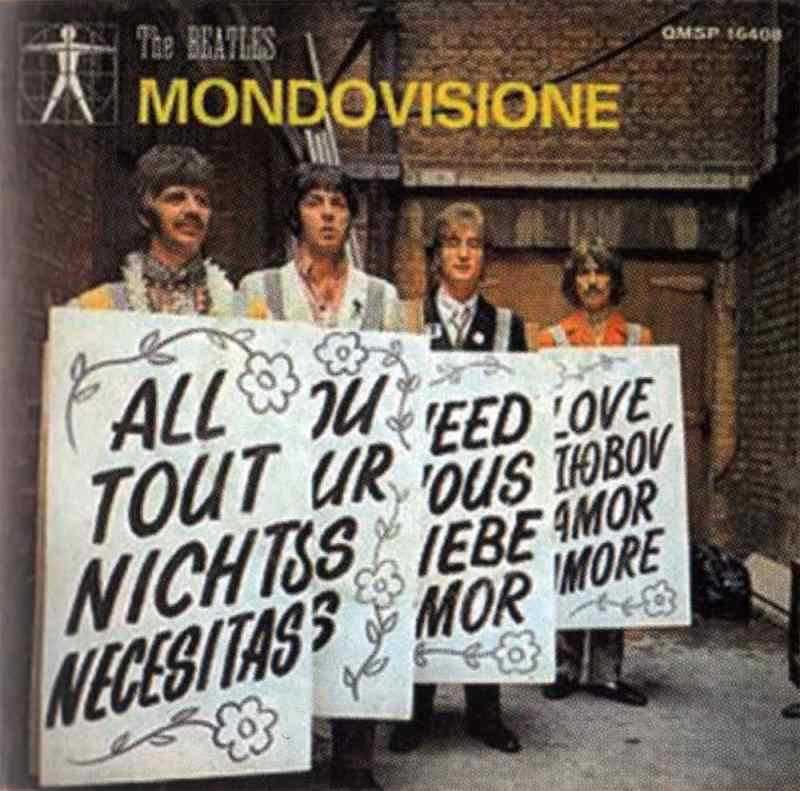 All You Need Is Love single artwork – Italy