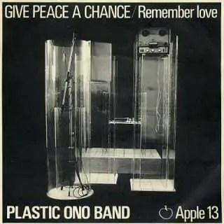 Give Peace A Chance single artwork – John Lennon/Plastic Ono Band