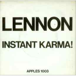Instant Karma! single artwork - John Lennon/Plastic Ono Band