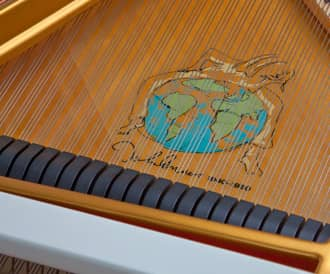 Detail from John Lennon 'Imagine' Series Limited Edition Piano by Steinway & Sons