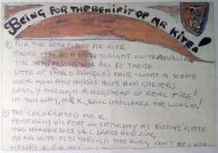 John Lennon's lyrics for Being For The Benefit Of Mr Kite!