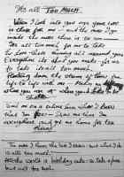 George Harrison's lyrics for It's All Too Much, 1967