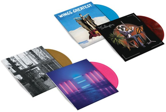Paul McCartney coloured vinyl (2018): Chaos And Creation In The Back Yard, New, Wings Greatest, Thrillington