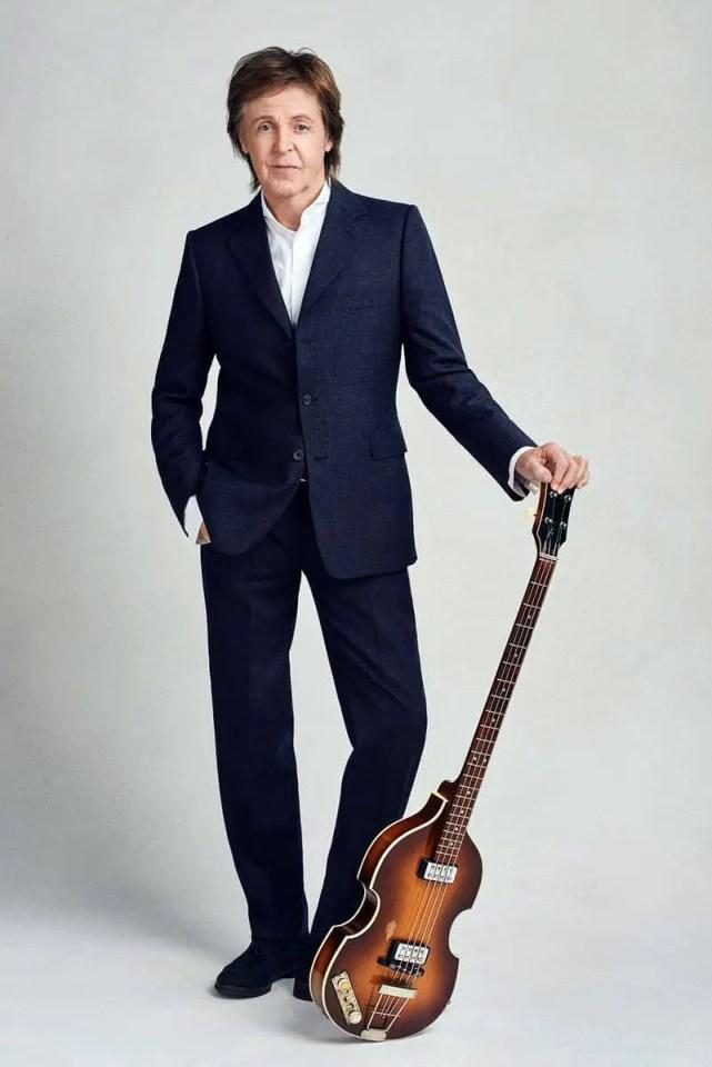 Paul McCartney with his Hofner bass guitar