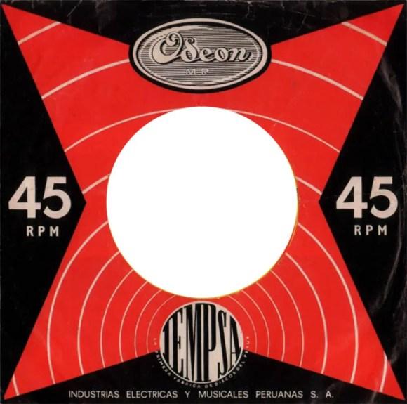 Odeon single sleeve, 1963-66 - Peru