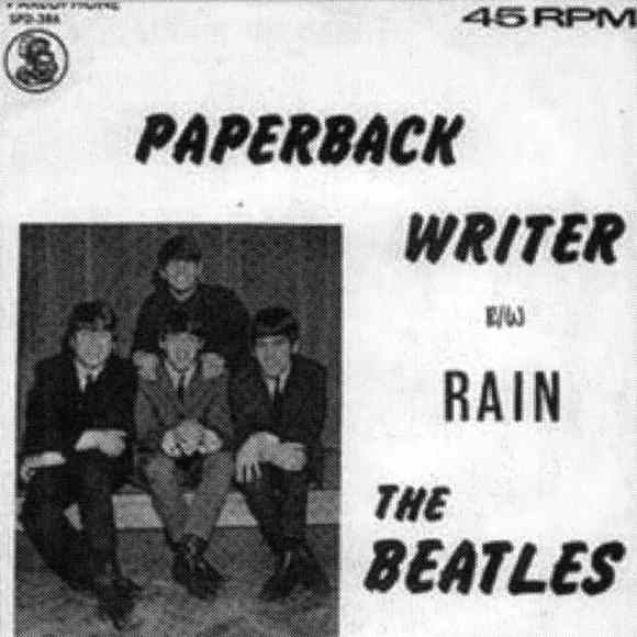 Paperback Writer single artwork - South Africa