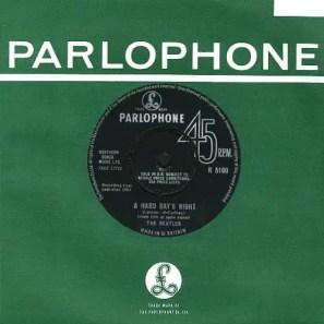 A Hard Day's Night single - United Kingdom