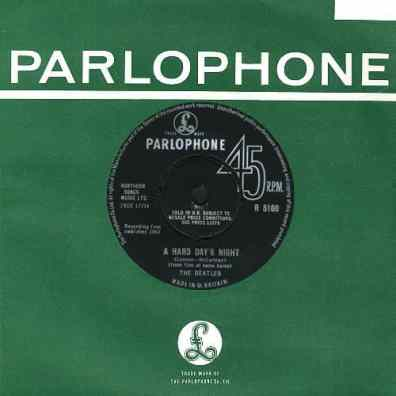 A Hard Day's Night single - United Kingdom