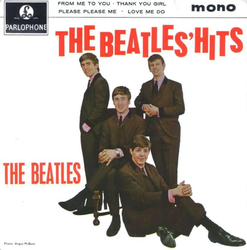The Beatles' Hits EP artwork – United Kingdom