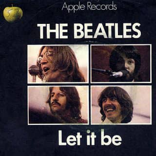 Let It Be single artwork – United Kingdom
