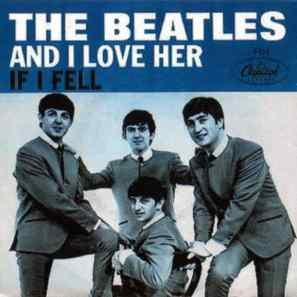 And I Love Her single artwork - USA