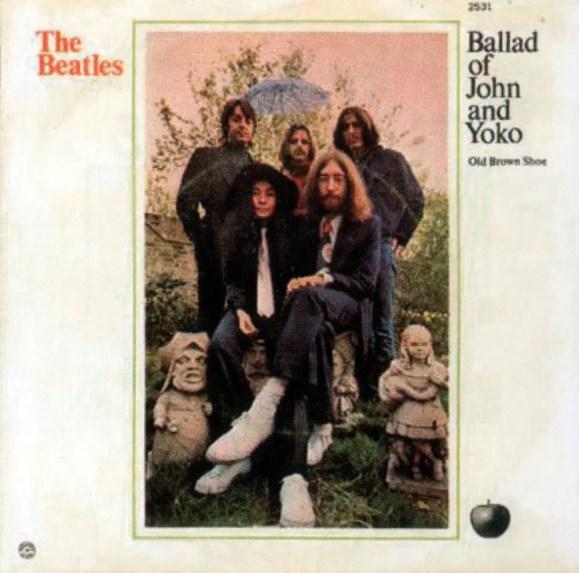 The Ballad Of John And Yoko single artwork - USA